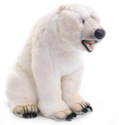Polar Bear Toy Reproduction By Hansa 85cm sitting Toy