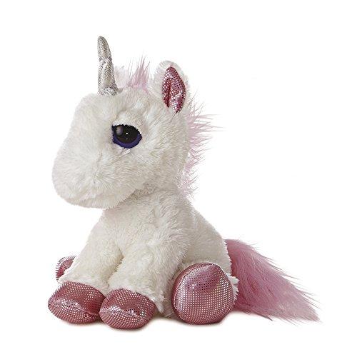 12 White Dreamy Eyes Unicorn Soft Toy