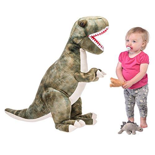 Prextex 24 Giant Plush Dinosaur T-Rex Jumbo Cuddly Soft Dinosaur Toys for Kids