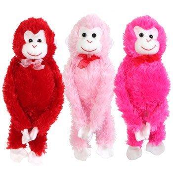 Valentines Plush Hanging Monkey 17¼