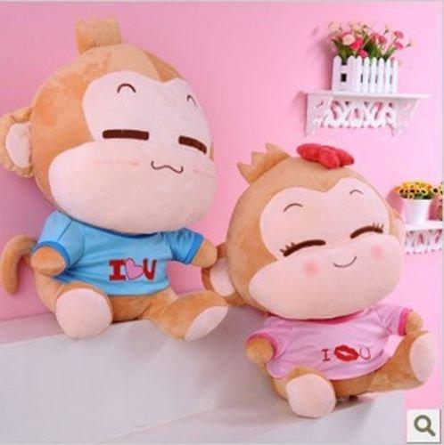 2PcsSet 10 Cute Plush Dolls YOYO CICI Monkey Lovers Couple Monkey Stuffed Toys