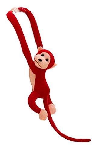 Set of 2 Cute Monkey Plush Puppy Animal Toy Stuffed Animals Plush Toy Dark Red