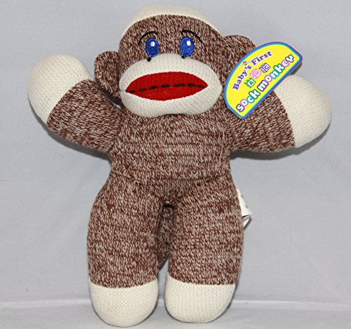 Babys First Sock Monkey Plush Toy