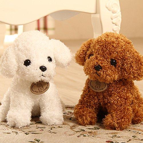 Calcifer Cute Soft Teddy Dog Stuffed Animals Plush Toys For Kids Children Girls BirthdayCar Home Decoration White