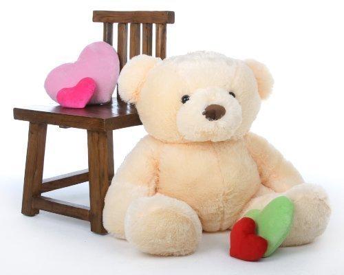 Smiley Chubs - 38 - Irresistibly Cute Extra Plump Vanilla Cream Super Soft Teddy Bear by Giant Teddy