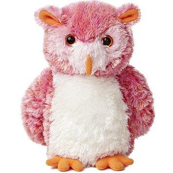 Pink Hoots Stuffed Owl - Set Of 3