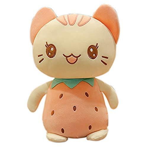 LFSLAS Plush Toy Cute Fruit Cat and Deer Stuffed Animals Cute Animal Doll Kids Kids Baby Soft Cartoon Pillow