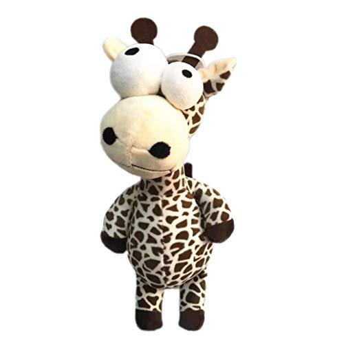 xinYxzR Cute Plush Toy Big Eyes Cartoon Lion Zebra Elephant Deer Animal Doll Soft Stuffed Plush Toy - Deer