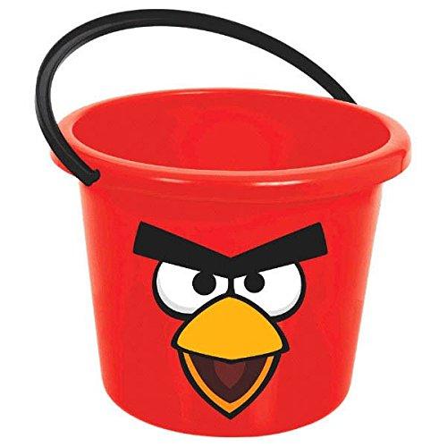 Amscan Angry Birds Party Jumbo Favor Bucket RedBlack 7 x 9 14