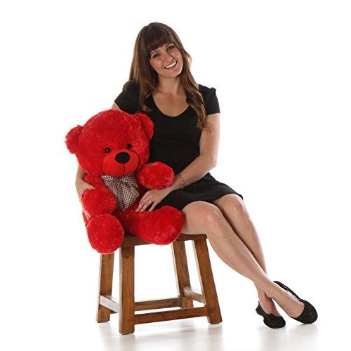 Bitsy Cuddles - 30 - Super Soft Huggable Giant Teddy red plush teddy bear