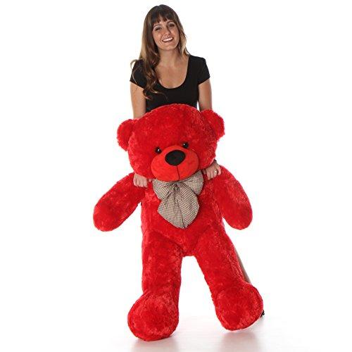Bitsy Cuddles - 46 - Super Soft Huggable Red Plush Teddy Bear By Giant Teddy