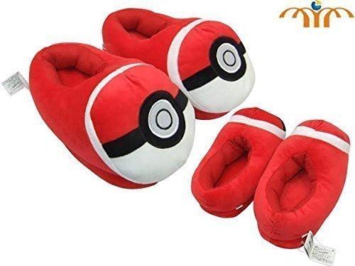 Pokemon Pokeball Red Plush Slipper approx 11 long