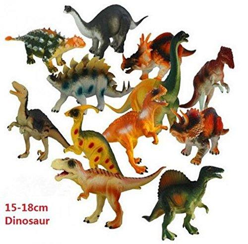 12pcslot 15-18cm Dinosaur Plastic Jurassic Play Model Action Figures T-REX DINOSAUR Toys for Children With no Box