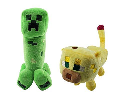 Minecraft Plush Ocelot and Creeper