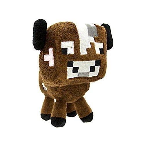 Zoofy International Minecraft 5 Baby Cow Stuffed Plush Brown One Size