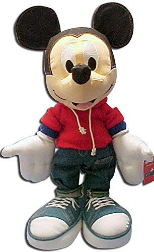 RARE Disney Plush Denim Mickey Mouse Stuffed Toy Doll