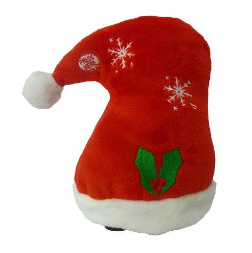 Singing Walking Christmas Hat Musical Plush Toy with Motion