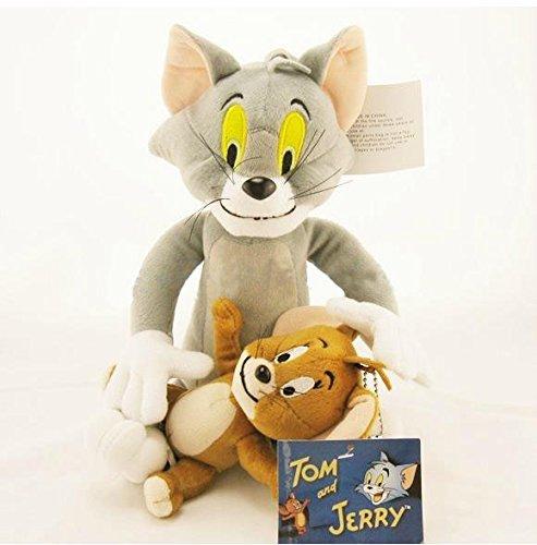 Disney Tom and Jerry Cartoon Plush Toys Stuffed Dolls 2pcs Set