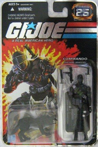 GI Joe 25th Anniversary Snake Eyes with Black Timber Variant