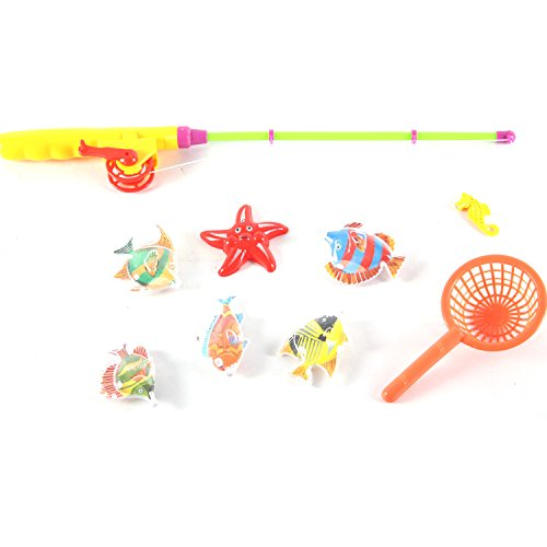 Fishing Game Bath Toy Magnetic Rod Playset