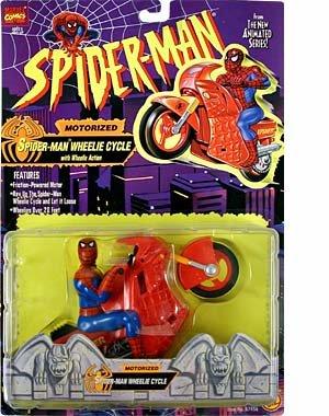 Spider-Man Toy Biz Spider-Man Wheelie Cycle Motorized Action Figure