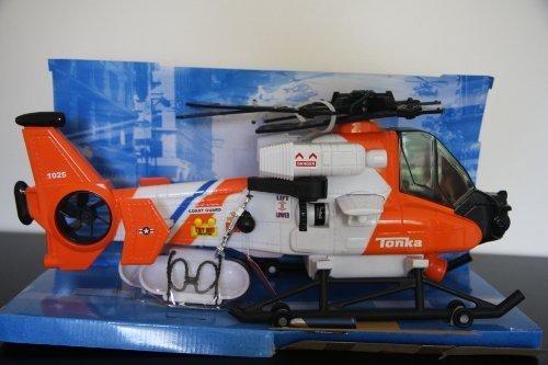 Tonka Mighty Motorized Toy Rescue Helicopter orange by Funrise