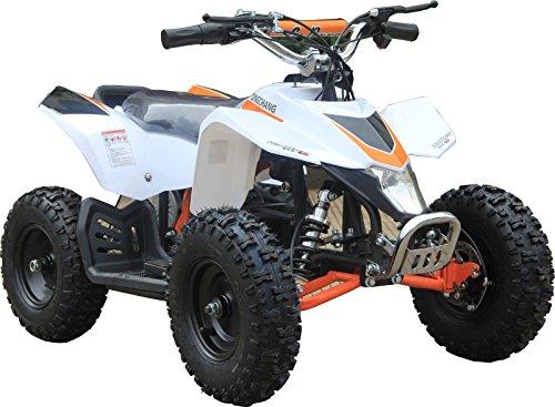 XtremepowerUS Mini Electric Sahara Quad Battery-Powered ATV White