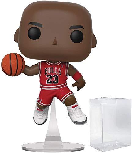 Funko NBA Chicago Bulls Michael Jordan Pop Vinyl Figure Includes Compatible Pop Box Protector Case
