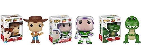 Funko Pop Disney  Toy Story Buzz Lightyear Wooody and Rex 3pc Figure Set