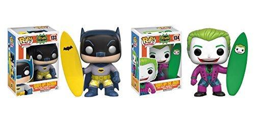 Funko POP DC Classic TV Surfs Up Batman and Surfs Up Joker - 2 Piece BUNDLE