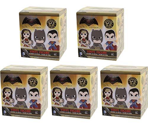 Batman v Superman Funko Mystery Mini Vinyl 5 Box Lot Random Bundle Blind Box