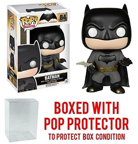 Funko POP Movies DC Comics Batman vs Superman Dawn Of Justice - Batman 84 Vinyl Figure Bundled with Pop BOX PROTECTOR CASE