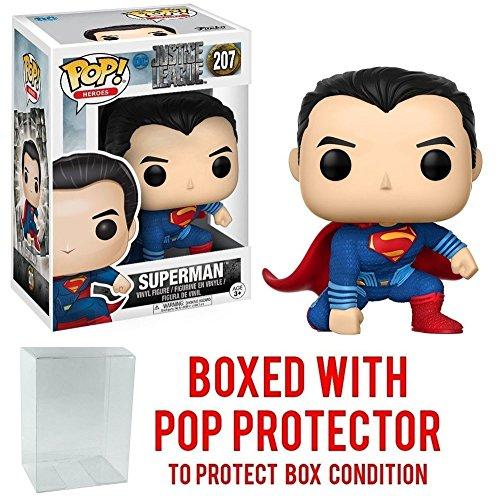 Funko POP Movies DC Justice League - Superman 207 Vinyl Figure Bundled with Pop BOX PROTECTOR CASE