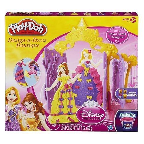 Play Doh Disney Princess Design a Dress Boutique - Belle and Rapunzel