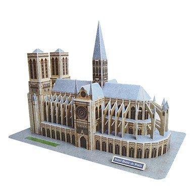 QFJ DIY Paper 3D Puzzle Notre Dame de Paris 74pcs No2804-E