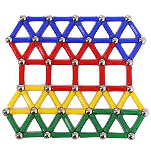 PIXNOR Magnetic Building Blocks Magnetic Sticks Intelligence Educational Toys 103pcs
