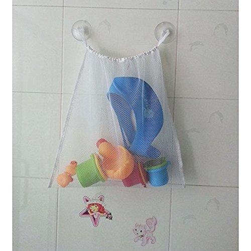 Kids Baby Bath Tub Toy Bag Hanging Organizer Storage Bag Large 18x14
