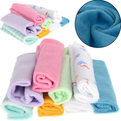 8Pcs Baby Infant Newborn Soft Bath Towel Washcloth Bathing Feeding Wipe Cloth by Completestore