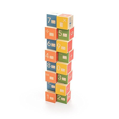 Uncle Goose Braille Math Blocks - Made in USA by Uncle Goose