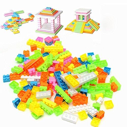 144pcs Plastic Building Blocks Bricks Children Kids Educational Block Toy Kidss Toy Gifts