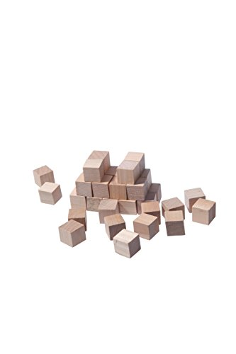 Small Blank Plain Wood Cube Stacking Blocks  Puzzle  Game Piece  or Dice Set Toys - Art Craft Wooden Cubes Natural Unfinished DIY Blocks 16 Cm - Set of 36 Pcs - For DIY Art Supplies