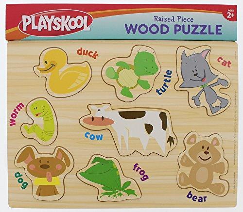 Playskool Raised Piece Wood Puzzle - 2 Pack