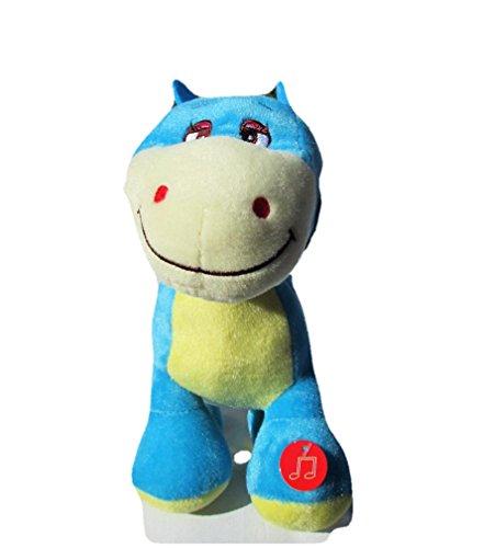 Singing 10 Blue Dinosaur ABC Musical Plush Plays A-B-Cs Plush Toy