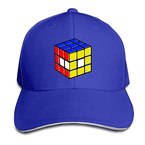 Macevoy Rubiks Cube World Casual Unisex Unstructured Cotton Cap Adjustable Baseball Hat Cap RoyalBlue