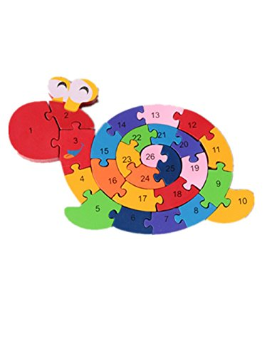 Puzzle Wooden Blocks Toys For Toddlers Childrens Gift Of Ages 2-7Snail