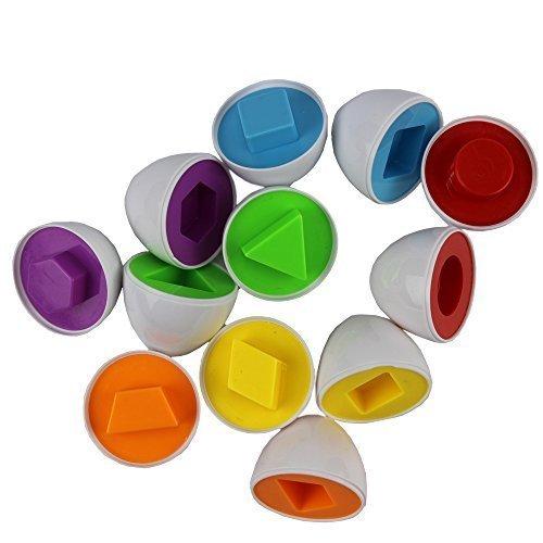 12 Piece2 set Smart Capsule Egg Kids Study Color Shape Blocks Puzzle Educational Toys