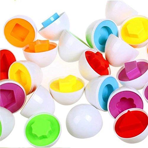 6 Pcs Smart Capsule Easter Egg Kids Baby Study Color Shape Blocks Puzzle Educational ToysFor 1-15 Years Children