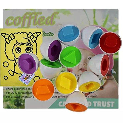 6 Pcs Smart Capsule Egg Kids Baby Study Color Shape Blocks Puzzle Educational Toys